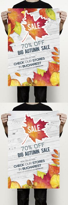 Autumn Sale Flyer  — PSD Template #sales #color • Download ➝ https://graphicriver.net/item/autumn-sale-flyer/18068608?ref=pxcr