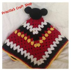 A personal favorite from my Etsy shop https://www.etsy.com/listing/220932398/mickey-mouse-security-blanket-mickey