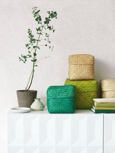 Petites boîtes déco en dégradé de couleurs naturelles - 20 photos canon pour découvrir la nouvelle collection Ikea - CôtéMaison.fr