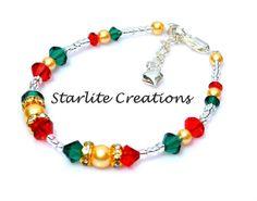 CHRISTMAS COLLECTION Christmas bracelets www.starlitecreations.com.au