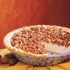 Oh How I love to make my version I call the Alabama nut pie with pecans caramel and cheesecake filling!!