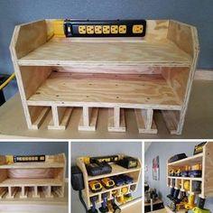 Storage Shed Organization, Garage Workshop Organization, Garage Tool Storage, Workshop Storage, Storage Rack, Diy Storage, Storage Ideas, Workshop Ideas, Cabinet Storage