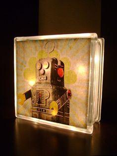 vintage toy robot double-sided LIGHTBOX / NIGHTLIGHT. $25.00, via Etsy.