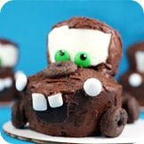 Tow Mater Cupcakes  no where was this for Aidan's birthday