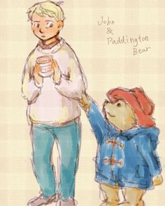 John Watson and Paddington Bear... because, why not?