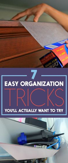 Easy Organization Hacks! Forget big resolutions, just pick a few tiny changes to make.
