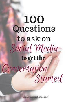 100 Questions to Ask on Social Media to get the Conversation Started Making Incomes from online & affiliate marketing Affiliate Marketing, Marketing Viral, Marketing Quotes, Content Marketing, Online Marketing, Marketing Ideas, Network Marketing Tips, Mobile Marketing, Marketing Strategies