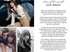 Read all about one of the classic icons of our time; Jane Birkin #PANDORAmagazine