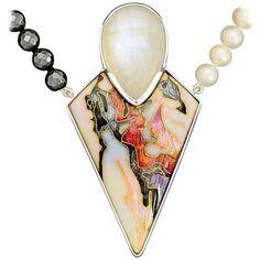 Enamel Jewelry, Metal Jewelry, Moonstone Pendant, Pendant Necklace, Fabric Earrings, Silver Pendants, Silver Enamel, Jewelery, Jewelry Design