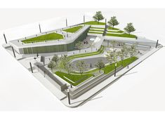 Can Am Landscaping Girard Il Landscape Model, Landscape Architecture Design, Architecture Graphics, Green Architecture, Concept Architecture, Landscape Plans, School Architecture, Design D'espace Public, Design Plaza