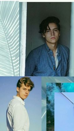 Cole Sprouse Wallpaper || Aesthetic || Blue Pastel