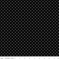 Black on Black Basics Small Dots from Riley Blake