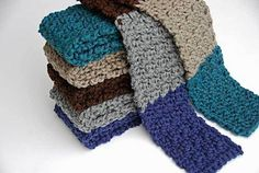 I created this quick scarf for donating to Handmade With Love Program through Operation Gratitude.