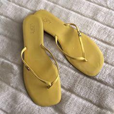 Loft Sandals Loft yellow sandals, worn once, size 9, small scuff on left foot LOFT Shoes Sandals