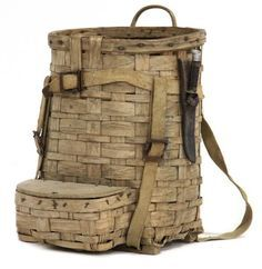 Old Maine Open Pack Basket early 20th century