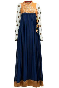 Angrakha Style Frocks With Open Shirt