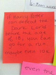 motivational Harry Potter post-its