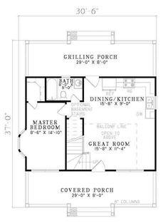 Cottage Floor Plans, Cottage Style House Plans, Country House Plans, Dream House Plans, Small House Plans, House Floor Plans, Cottage Ideas, Country Farm, The Plan
