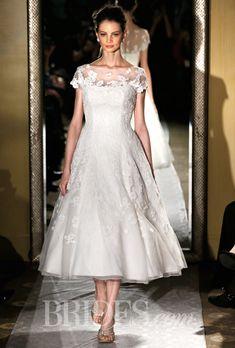 Brides: Oleg Cassini Wedding Dresses   Spring 2015   Bridal Runway Shows   Brides.com   Wedding Dresses Style
