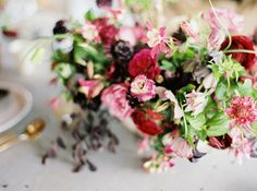 bold pink accent florals