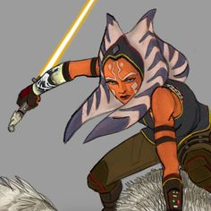 Ahsoka print by Dave Filoni from Star Wars Celebration Europe 2013 - wearing the outfit officially revealed at Star Wars Celebration Europe 2016