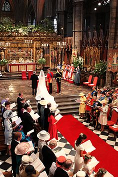 Inside Westminster Abbey for Will and Kate's wedding