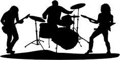 rock guitar silhouette - Google Search