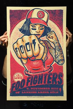 Foo Fighters Koln, Germany Poster by Lars P Krause