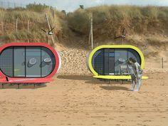 Eco Beach Huts, Hand Drawn Homes