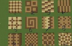 minecraft floor patterns - Google Search
