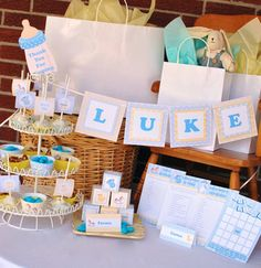 Blue Baby Boy Shower Party Printable. $8.00, via Etsy.