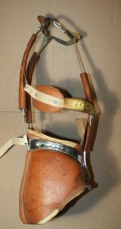 Vintage leather & stainless steel Milwaukee back brace