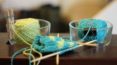 DIY Yarn Bowls. How is it I never thought to do this?  Because I'm not nearly as brilliant as MacGyver knitters!