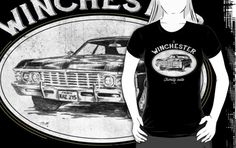 'Winchester auto' T-Shirt by TeeKetch Senior Photo Outfits, Senior Photos, Winchester, Tshirt Colors, Wardrobe Staples, Female Models, Heather Grey, Classic T Shirts, Comfy