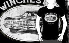 'Winchester auto' T-Shirt by TeeKetch Senior Photo Outfits, Senior Photos, Winchester, Tshirt Colors, Wardrobe Staples, Female Models, Classic T Shirts, Heather Grey, Comfy
