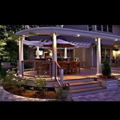 If you choose to get really fancy and build some columns…. with exterior illumination...