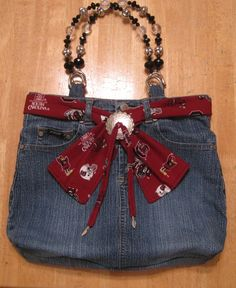 Denim Skirt Handbag:  This I really like- but with a patriot's twist of course! ;)