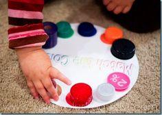 Color wheel w/matching lids