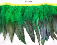 Iridescent Hackle Feather Trim asst Colors By Shine Trim  Green >>> To view further for this item, visit the image link. (Amazon affiliate link)