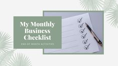 The checklist of things I do at the end of each month in my business, including backups, analytics reviewing, bookkeeping and reflections   byRosanna   #freelancetips #businesstips #productivitytips #productivityhacks Marketing Tactics, Social Media Marketing, Analytics Dashboard, Promotion Strategy, Productivity Hacks, You Youtube, Video Editing, Business Tips, Reflection