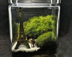 Zen Terrarium-Fisherman Terrarium-Japanese by TerraSphereTerrarium Terrarium Scene, Moss Terrarium, Garden Terrarium, Carafe, Japanese Pagoda, Woodland Plants, Garden In The Woods, Miniature Fairy Gardens, Live Plants