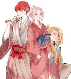 Sasori • Sakura • Deidara