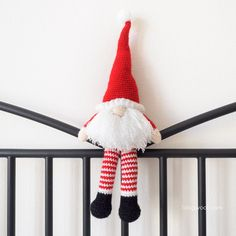 Free crochet pattern for a cute Scandinavian Santa Gnome. A perfect friend for Christmas, as a gift or as a fun piece of holiday decor.