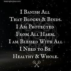 So mote it be . Spells For Beginners, Witchcraft For Beginners, Witch Spell Book, Witchcraft Spell Books, Karma Spell, Truth Spell, Banishing Spell, White Magic Spells, Paz Mental