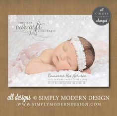 Holiday birth announcement, christmas, new years, this year our gift came early, PRINTABLE
