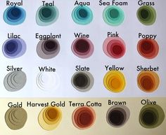 Crafterall's color schemes--love royal, wine, aque, sherbet, gold and terra cotta