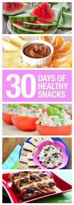 30 days of healthy snacks- yum!