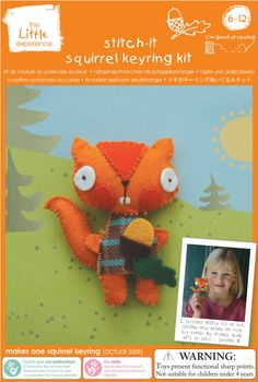 Stitch your own Squirrel keyring - adorable