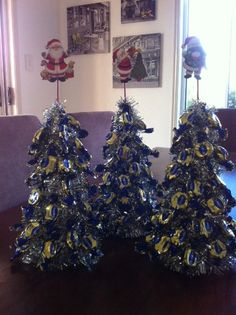 nana made us lolly xmas trees, yum. great table decorations.