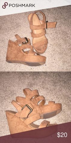 Wedge sandals Size 7.5, super comfortable. Worn 3 times, great condition. Mossimo Supply Co Shoes Wedges